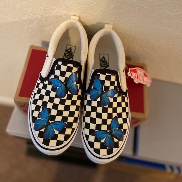 Custom Butterfly Checkered Vans | Poshmark